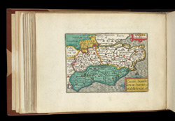 Map of Surrey, Sussex and Kent, from Atlas of the British Isles, Pieter Van Den Keere